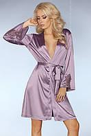 Атласный халат Maverick Livia Corsetti S/M, фиолетовый