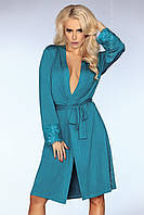 Красивый домашний халат Brenda Livia Corsetti S/M, бирюза