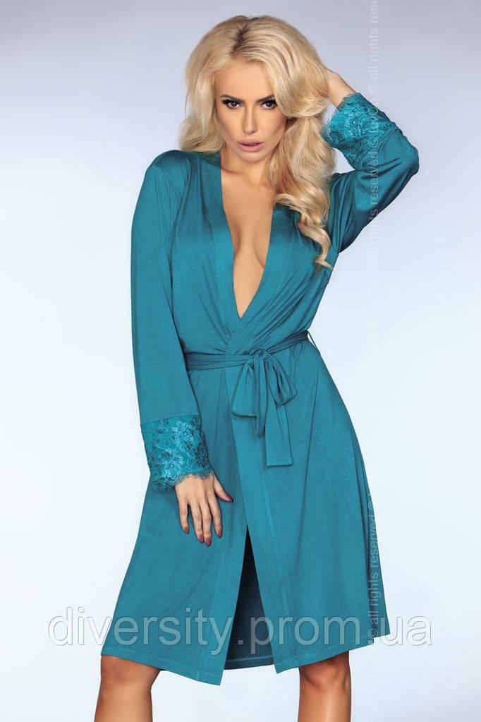 Красивый домашний халат Brenda Livia Corsetti L/XL, бирюза