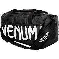 Оригинальная Сумка Venum Sparring Sport Bag Black/White  Черный