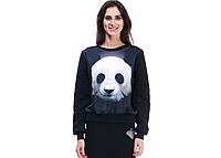 Свитшот черный с принтом Панда, фото 1