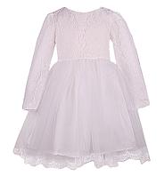 Вечернее платье для девочки с ажурным лифом и пышной юбкой