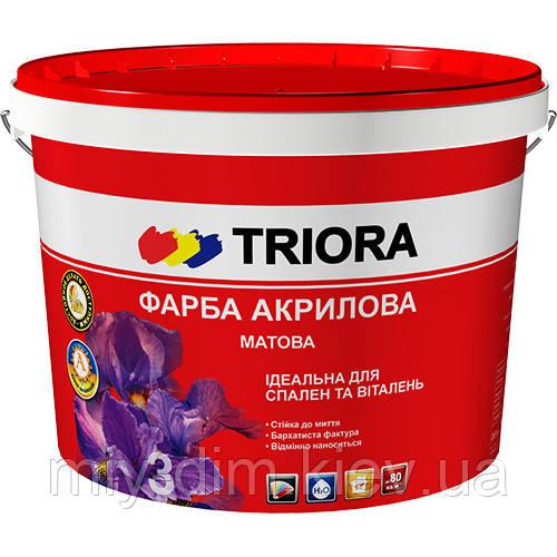 ТРІОРА фарба акрилова №3 матова інтер`єрна 1л /1,4кг