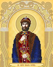 """Схема для вышивки бисером именная икона """"Святой Борис"""""""