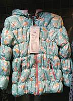 Стеганная детская куртка для девочки с капюшоном