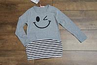 Трикотажная туника с карманами для девочек 4-6-8-10-12 лет Цвет малиновый, серый, салатовый