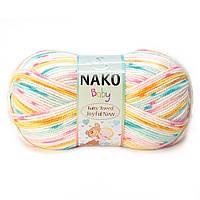 """Пряжа Nako Baby Tweed Joyful """"81049"""" Детская для Ручного Вязания"""