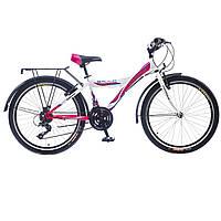 """Велосипед 24"""" Formula GALLO  14G  Vbr   St с багажн. бело-розовый  2016"""