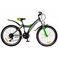 """Велосипед 24"""" Formula STORMY AM 14G  Vbr   St  черно-зеленый  2016"""