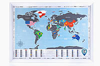 Скретч карта мира Discovery Map World Flags Edition