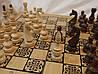 Набір 3 в 1 дерев'яні шашки, шахи, нарди 50 см Україна