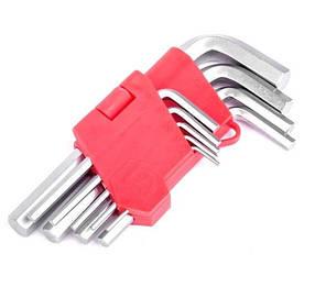 Набор Г-образных шестигранных ключей 9 ед., 1.5-10мм, Intertool (HT-0601)