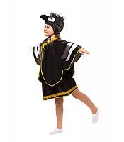 Карнавальный костюм Вороны для девочки весенний на праздник Весны (4-9 лет)