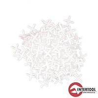 Набір дистанційних хрестиків для плитки InterTool(200шт) L-2,0мм