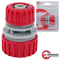 "Муфта ремонтна для шланга 1/2"", 3/4"" InterTool"