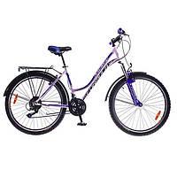 """Велосипед 26"""" Formula OMEGA AM 14G  Vbr   St с багажн. бело-синий  2016"""