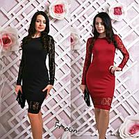 """Женское нарядное платье """"Полин"""" с гипюром в разных цветах"""