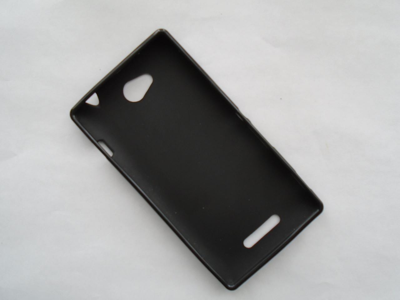 Чехол бампер силиконовый Sony xperia c c2304 черный
