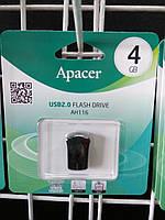 Флешка USB Flash 4 GB Apacer AH116 Black