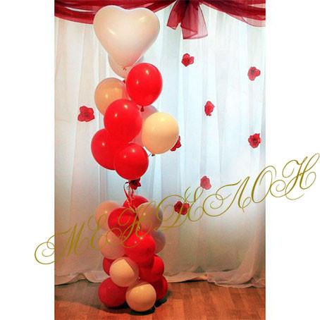 Букет гелиевых шаров на 14 февраля - Менделон в Киеве