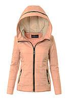 Женская весенняя демисезонная куртка с капюшоном №3