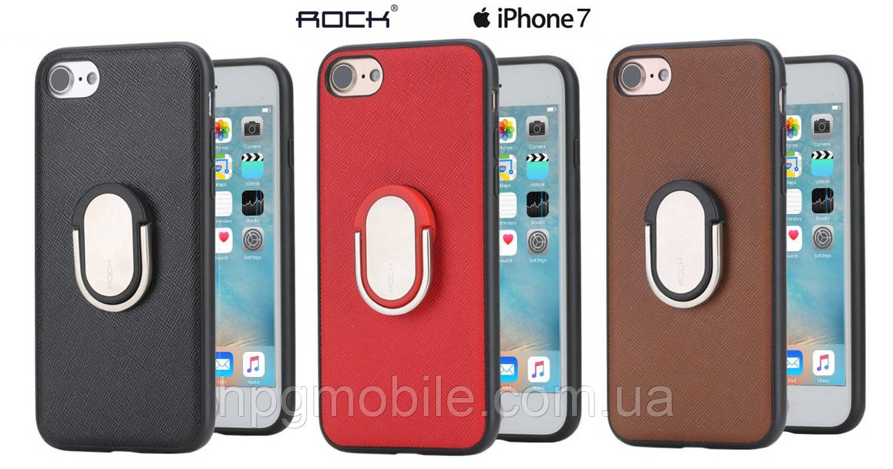Чехол для iPhone 7, iPhone 8, iPhone SE 2 - ROCK Ring Holder M1, с подставкой, разные цвета