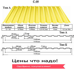 Профнастил С-10, фото 2