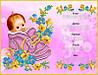 """Схема для вышивки бисером/крестом на габардине """"Метрика девочки (имя/дата/время/рост/вес)"""""""