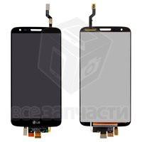 Дисплейный модуль для мобильного телефона LG G2 D802, черный, original (PRC), 20 pin