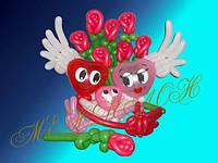 Композиция из шаров на 14 февраля любовь в семье