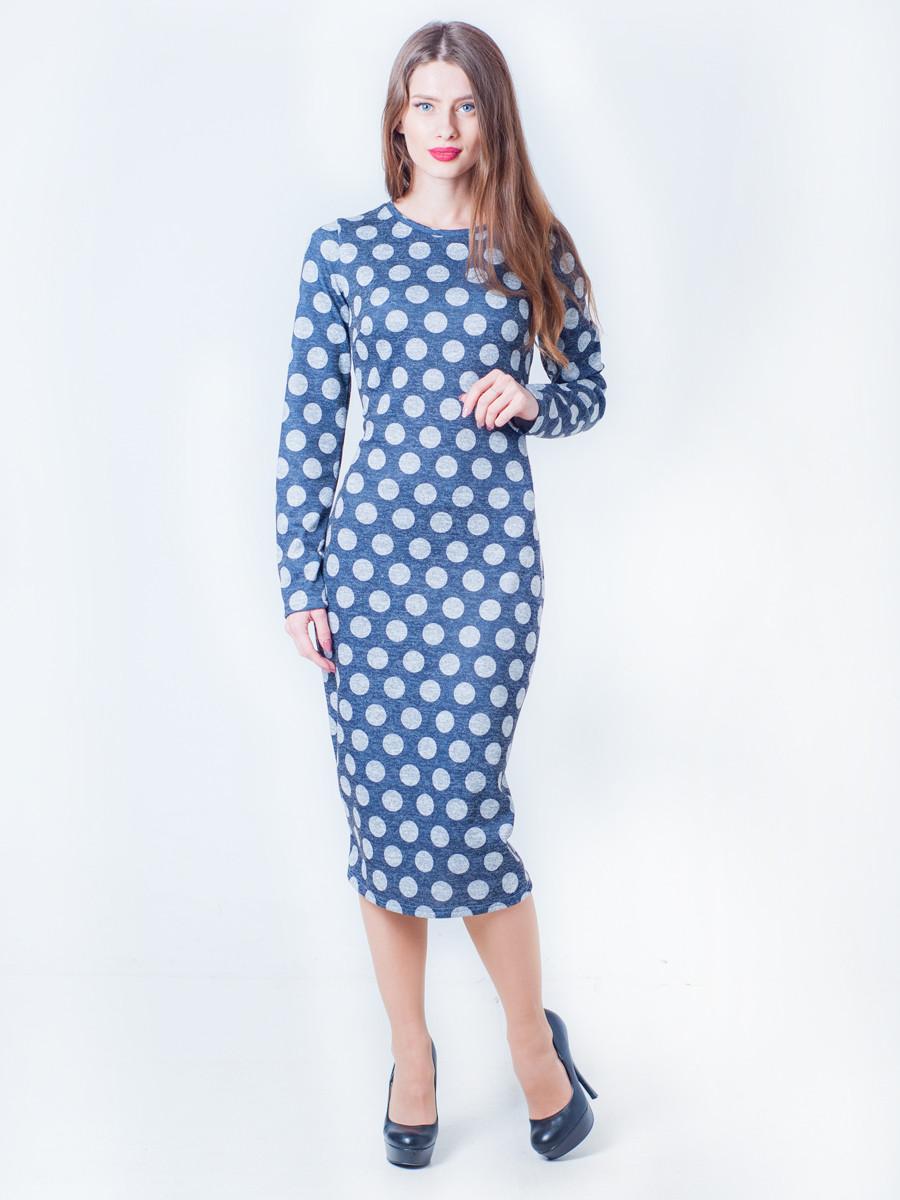 Платье-футляр ниже колена