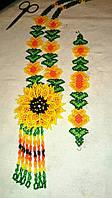Комплект намисто і браслет з квіткою (Комплект ожерелье и браслет с цветком) AK-0090