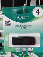 Флешка USB Flash 4 GB Apacer AH325 Black