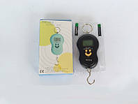 Безмен электронный 40 кг: погрешность 10 г, kg/lb/jin/oz, 115х65х20 мм, экран с подсветкой, 2хААА