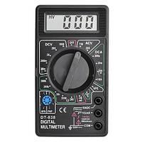 Мультиметр DT 838: гнезда 3/8, зуммер/тестирование диодов/транзисторов, ток/сопротивление/напряжение