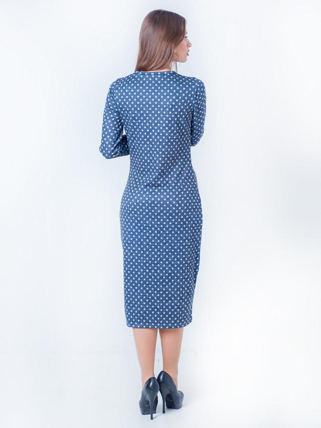 платье-футляр, платье в горошек, длинное платье