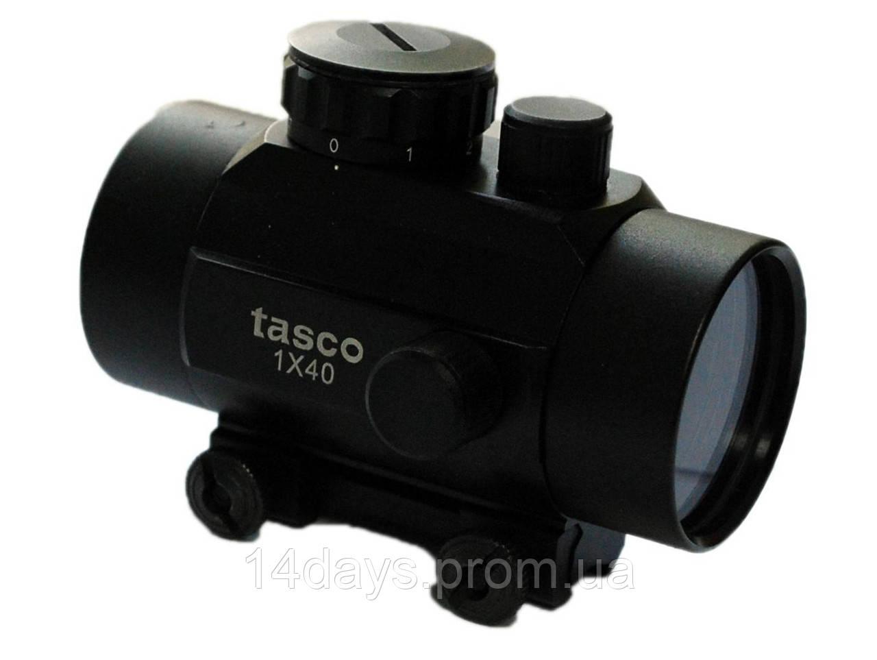 Коллиматорный прицел Tasco 1х40 с креплением 12мм