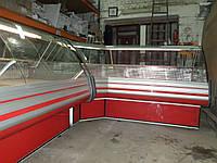 Холодильная угловая  GOLD Холодильная витрина Cold W 20 б/у, холодильный прилавок б у, витрина холодильная бу.