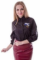 Женская блузка с классическим отложным воротником
