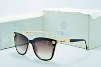 Солнцезащитные очки Versace прямоугольные коричневые