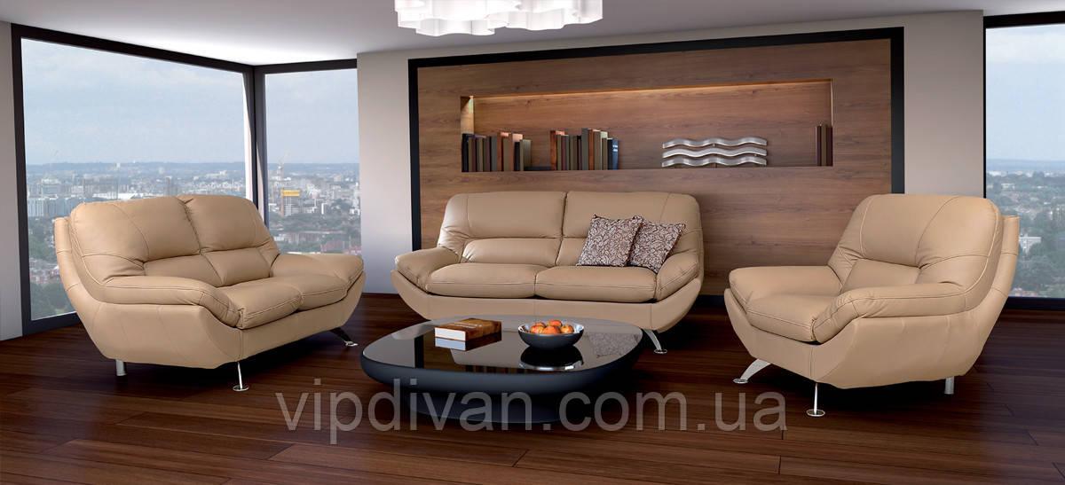 Кожаный комплект мягкой мебели диван Ibiza и кресла - ШКІРЯНІ МЕБЛІ   VALAGA     www.meblzevropy.jimdo.com в Львове