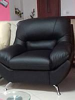 Кожаный комплект мягкой мебели диван Ibiza и кресла