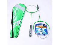 Бадминтон BT-BPS-0023 2 ракетки в сумке 2цв.ш.к./50/