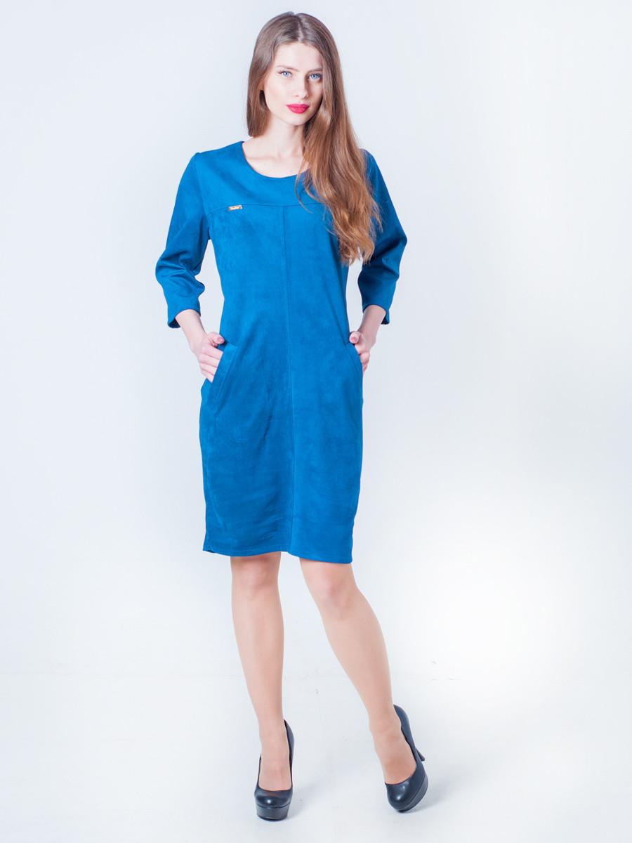Замшевое свободное платье 48, 50, 52, 54