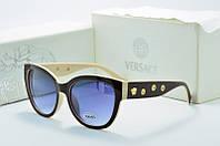 Солнцезащитные очки Versace черные с молочным овальные