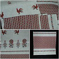 Красивый комплект из льна полотенце и 6 салфеток