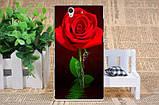 Чехол силиконовый бампер для Sony Xperia Z c6603 c6602 L36h с картинкой розы на белом фоне, фото 3