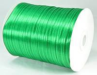 Лента атласная 3мм зеленый 796м