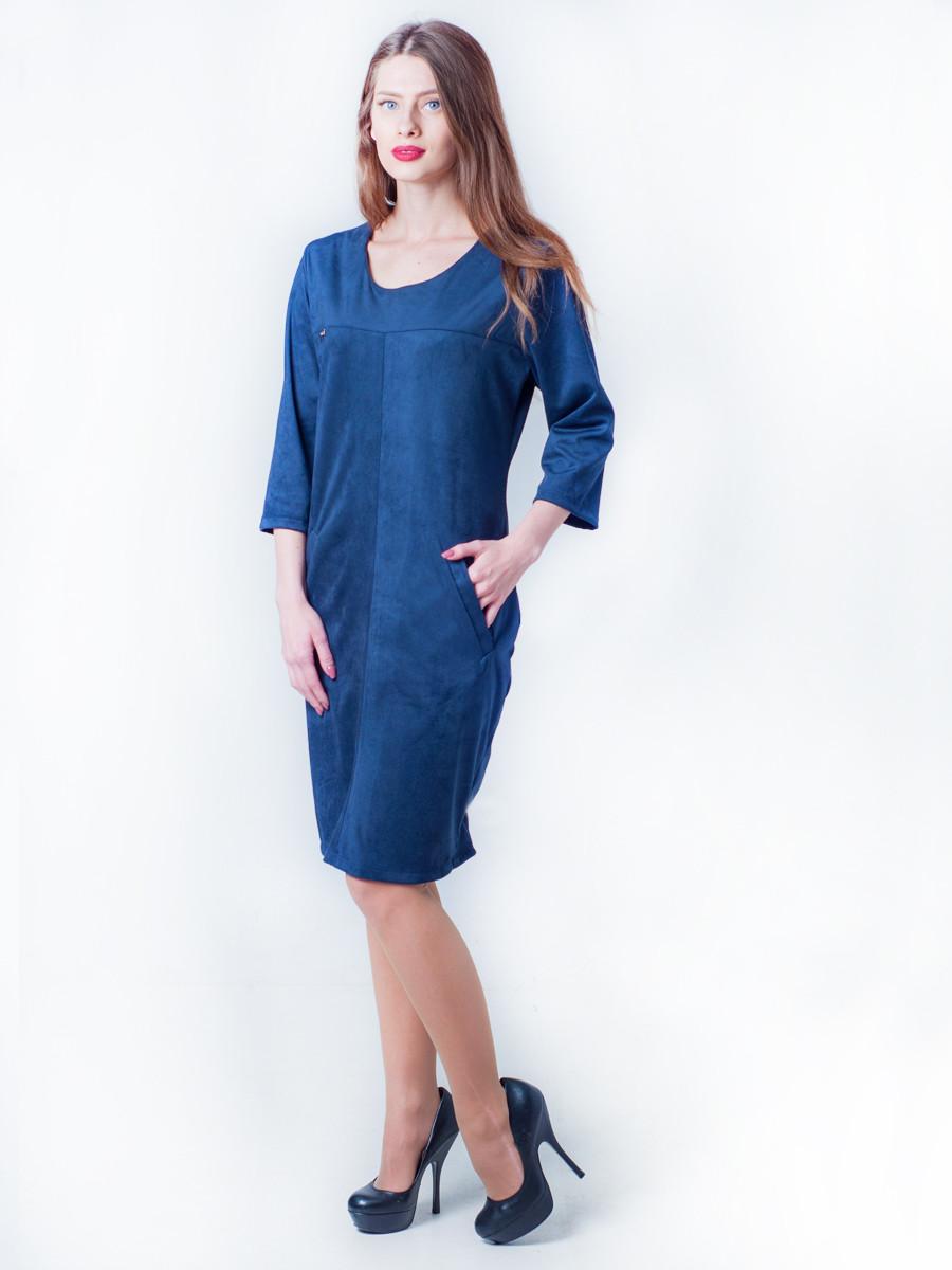 Замшевое платье свободного кроя 48, 50, 52, 54