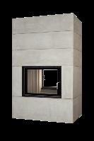 Теплоаккумулирующий камин Brunner BSK 08 Style Tunnel 51/67 side-opening door